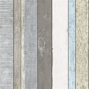 138250 Non-Woven Wallpaper wood grey white Vintage Rules!