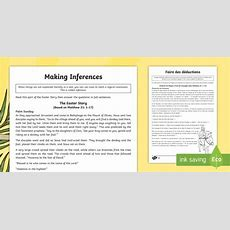 * New * Ks2 Easter Story Inference Differentiated Activity