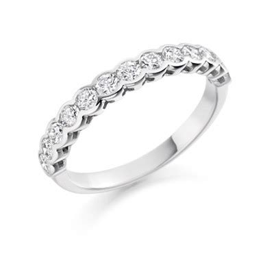 brilliant rubover ring eternity collection waltons of chester diamond jewellery and