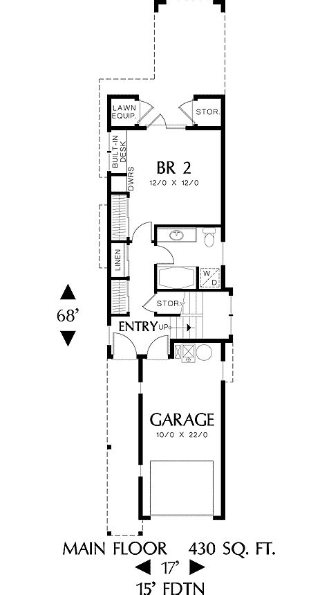 perfect home plan   narrow lot