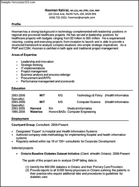 health care and resume format template sle