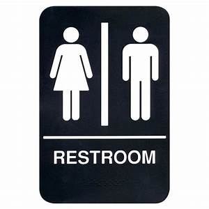 braille restroom sign With bathroom signa