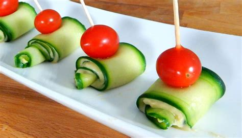 canape appetizer cucumber hummus appetizer best finger food inspire to