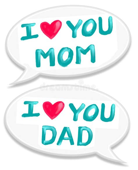 I Love Mom Dad Royalty Free Stock Photography - Image