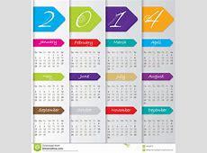 Arrow Calendar Design For 2014 Stock Vector Illustration