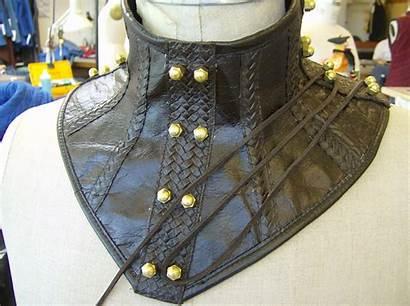 Gorget Leather Making