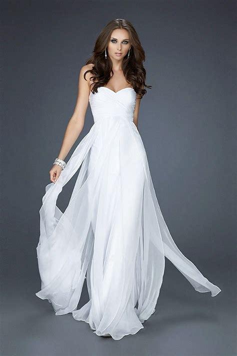 Wedding Fashion Elegant Charming White Formal Dresses For