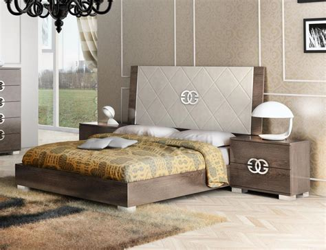 italy elegant leather high  bedroom sets san