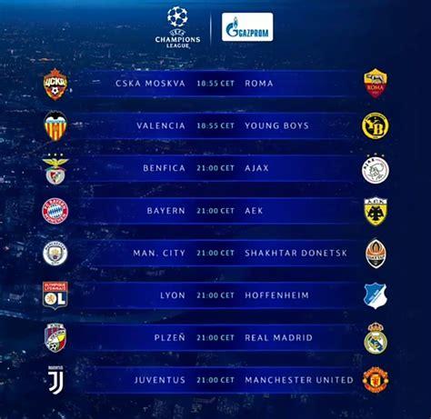 TONIGHT'S UEFA Champions League fixtures ⚽😈 | Champions ...