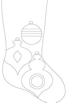 christmas stocking template images felt