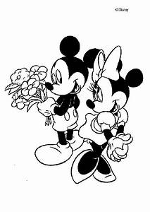 Mickey mouse and minnie mouse in love coloring pages ...