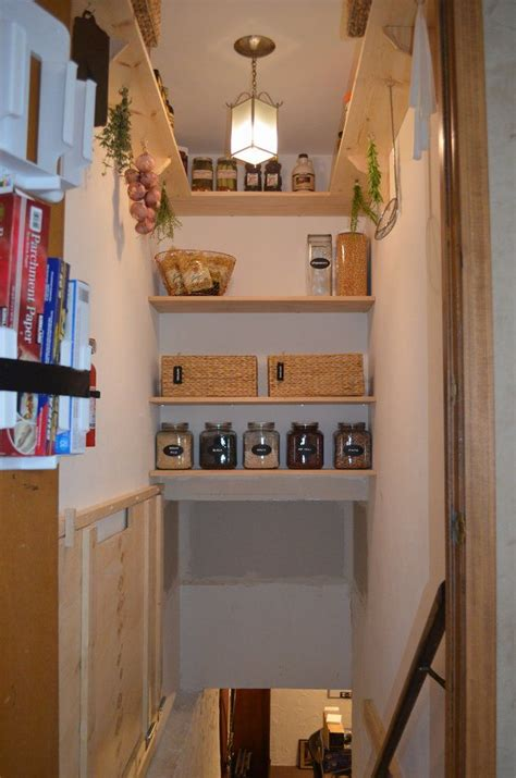 Basement Pantry Ideas Stairwell Pantry Such A Clever Use Of This Space