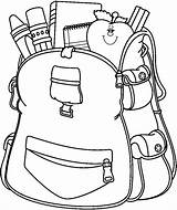 Drawing Bookbag Backpack Clipart Clipartmag sketch template
