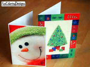 fun coloring designs diy upcycle old christmas cards holidy ideas