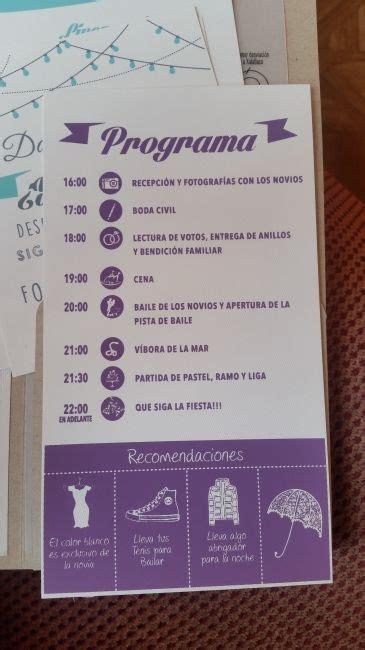 programa organizar boda juegos boda itinerario de boda
