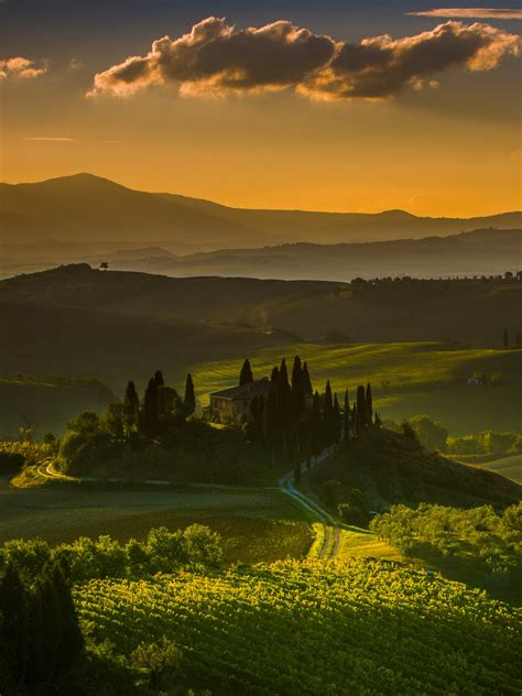 wallpaper tuscany italy landscape  nature