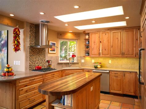 carmel southwest knotty cherry kitchen southwestern