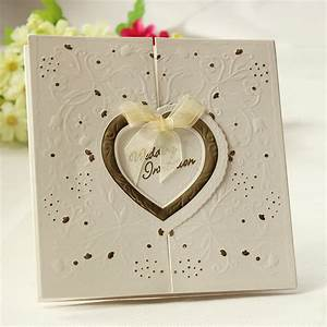 Set of 200 embossed gold interlocking heart ivory wedding for 200 wedding invitations cost