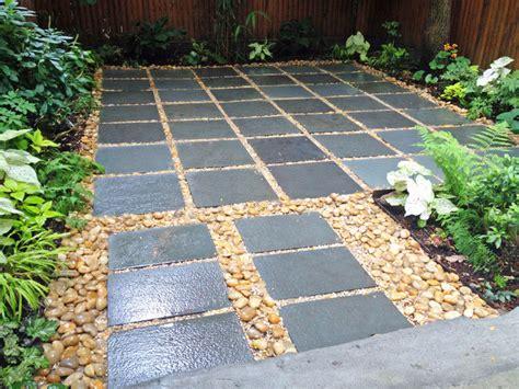 backyard stones nyc backyard patio bluestone pavers shade garden river stones pond stones contemporary