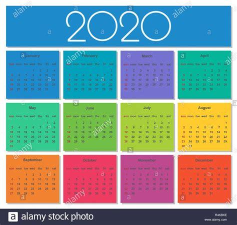 colorato calendario semplice template vettoriale illustrazione
