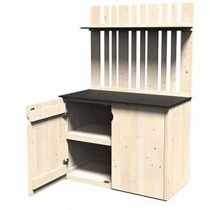 Armoire De Jardin Bois : armoire de jardin bois vertigo l122 h180 cm l180 x l124 x h30 cm poids 64 kg gamm vert ~ Teatrodelosmanantiales.com Idées de Décoration