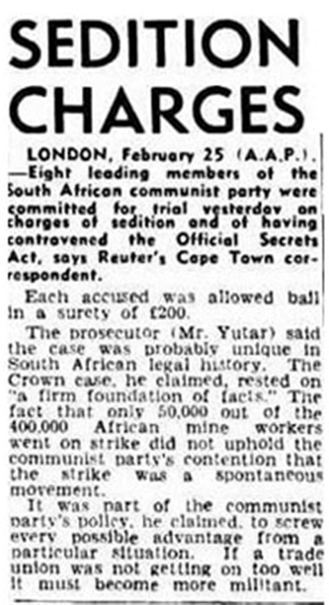 The Sedition Trial 1946 - 1948 | South African History Online