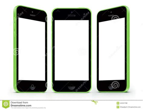 iphone 5c white screen iphone 5c with white screen stock illustration image