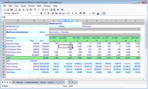 spreadsheet component  winforms excel vbnet