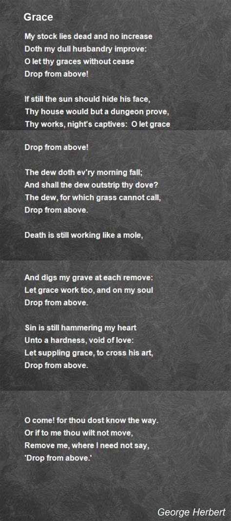 grace poem  george herbert poem hunter