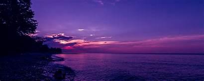 Sunset Waves Sky Evening 1080p Ultrawide Monitor