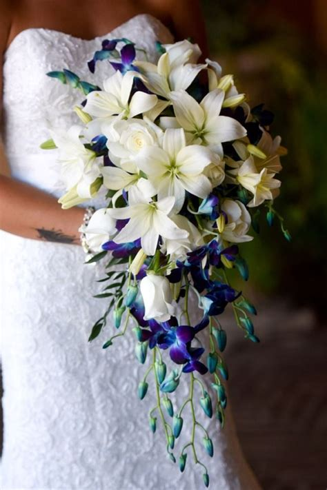 dark blue delphinium wedding flowers