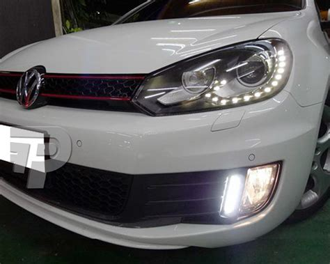 mk6 gti lights volkswagen vw golf 6 mk6 gti drl daytime running light led 09