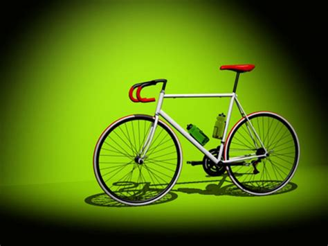 fixie bicycle max ds max software transportation objects