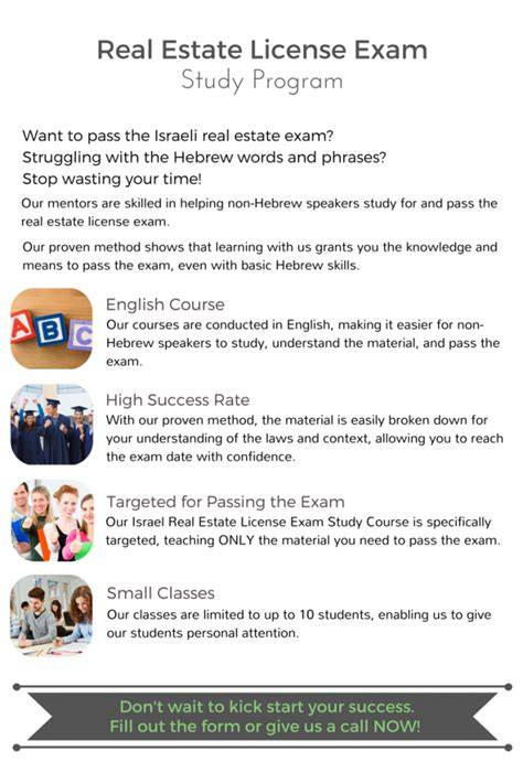 Israel Real Estate License Exam Study Program  Su Casa Tel Aviv Real Estate  Su Casa Tel Aviv