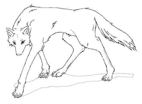 Anime Wolf Coloring Pages - Eskayalitim