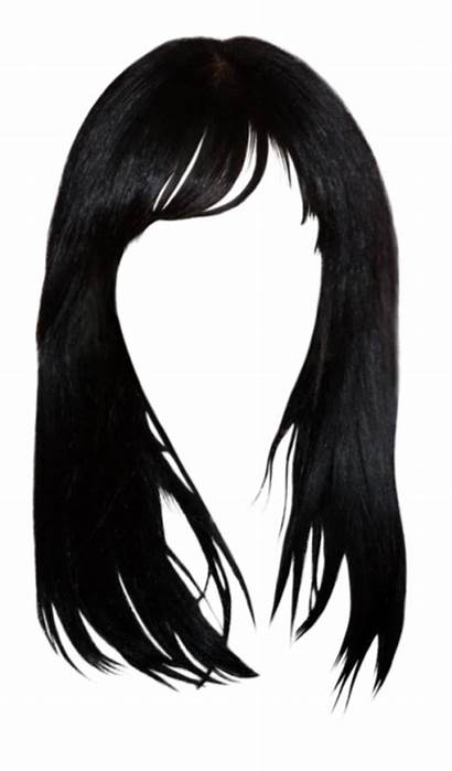 Hair Transparent Bangs Clipart Background Wig Clip