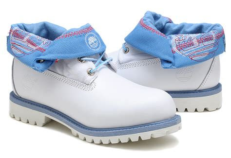 light blue timberlands timberland mens roll top boots in light blue with
