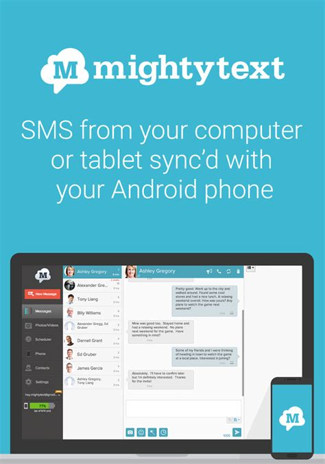 messaging apps for android phone sms text messaging pc texting android apps on play