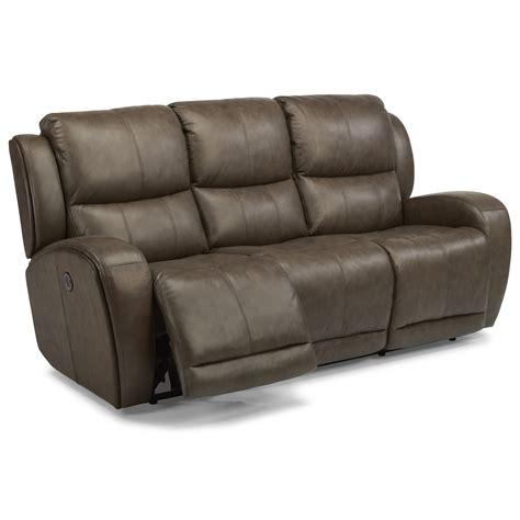 Flexsteel Chaz 1839 62p Contemporary Power Reclining Sofa