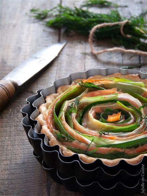 tarte l 233 g 232 re 171 tourbillon 187 saumon fum 233 et poireau sans oeuf jujube en cuisine