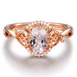 gold vintage engagement rings vintage 1 carat morganite and engagement ring in gold jeenjewels