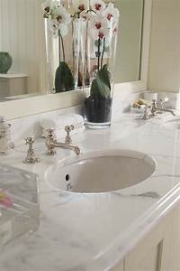 The pros and cons of marble countertops countertop guides for Marble bathroom tiles pros and cons