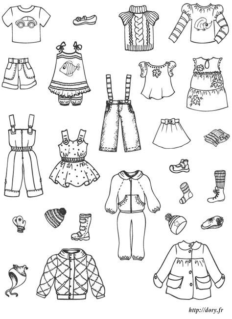Dessin à Imprimer  Des Vêtements Et Chaussures Enfants