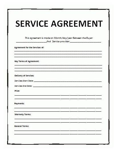 Agreement Template Service Templates Contract Word Services