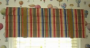 roman valance susan39s designs With horizontal pleated curtains