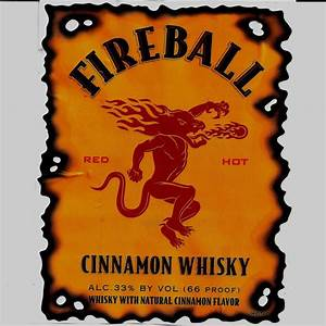 Fireball Cinnamon Whisky Bottle Label | eBay