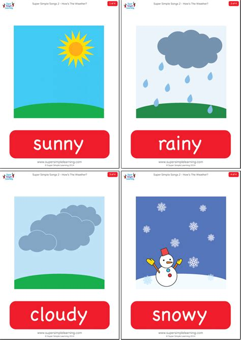 How's The Weather? Flashcards  Super Simple