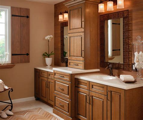 glazed cabinets  casual bathroom kitchen craft cabinetry