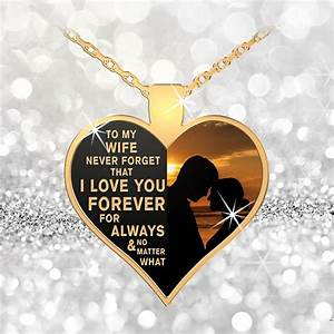 My Wife - Forever, For Always - Gold Necklace
