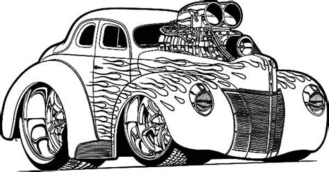 Kleurplaat Hotrod by Rod Cars 1936 Chevy Rod Cars Coloring Pages